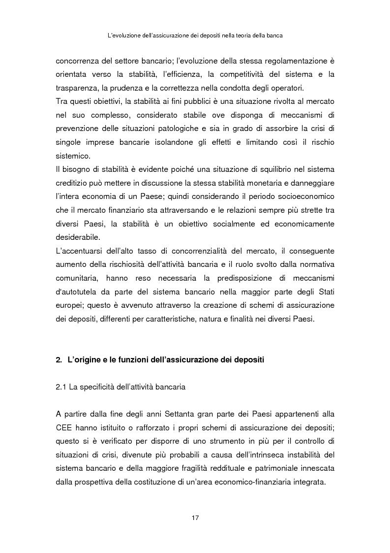 Anteprima della tesi: La determinazione del premio dell'assicurazione dei depositi attraverso l'option pricing: un'applicazione al caso italiano, Pagina 13