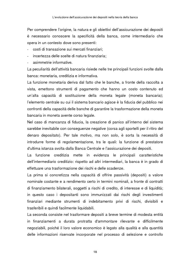 Anteprima della tesi: La determinazione del premio dell'assicurazione dei depositi attraverso l'option pricing: un'applicazione al caso italiano, Pagina 14