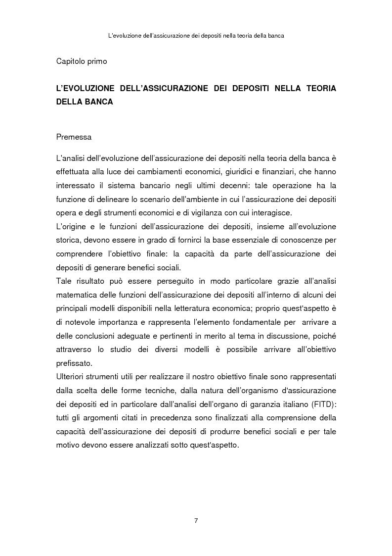 Anteprima della tesi: La determinazione del premio dell'assicurazione dei depositi attraverso l'option pricing: un'applicazione al caso italiano, Pagina 3