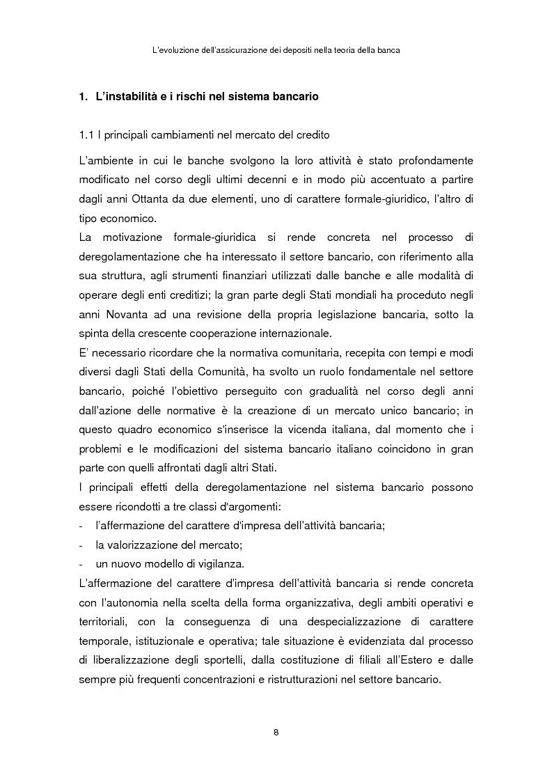 Anteprima della tesi: La determinazione del premio dell'assicurazione dei depositi attraverso l'option pricing: un'applicazione al caso italiano, Pagina 4