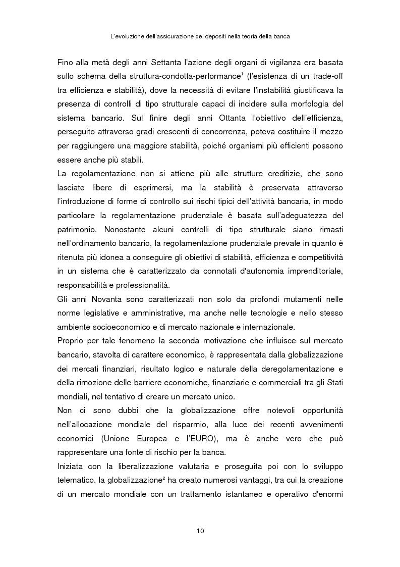 Anteprima della tesi: La determinazione del premio dell'assicurazione dei depositi attraverso l'option pricing: un'applicazione al caso italiano, Pagina 6