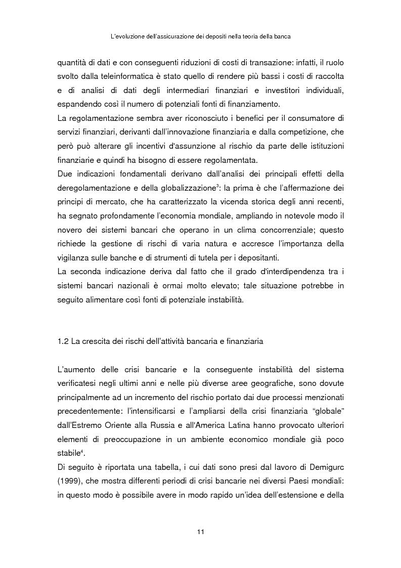 Anteprima della tesi: La determinazione del premio dell'assicurazione dei depositi attraverso l'option pricing: un'applicazione al caso italiano, Pagina 7