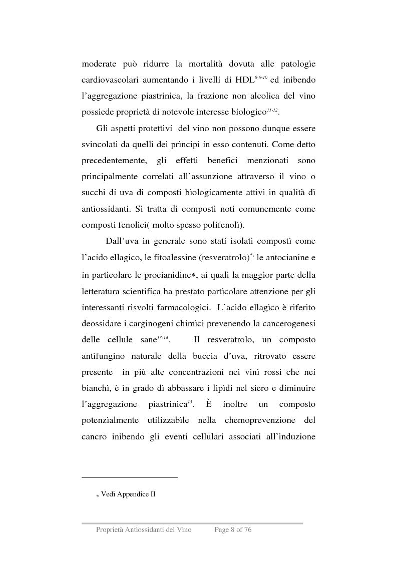 Anteprima della tesi: Proprietà antiossidanti del vino, Pagina 5