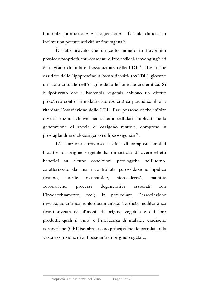 Anteprima della tesi: Proprietà antiossidanti del vino, Pagina 6