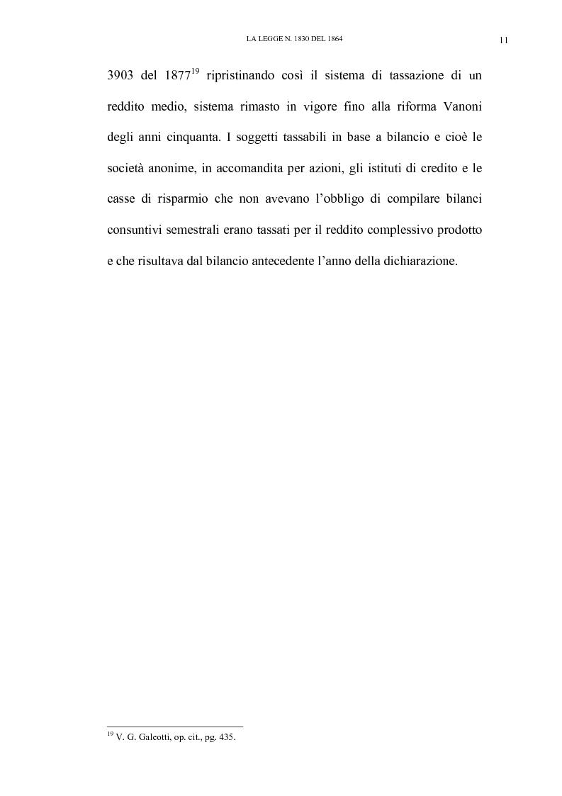 Anteprima della tesi: Nascita e linee evolutive dell'imposta sul reddito d'impresa dal 1864 ad oggi, Pagina 11