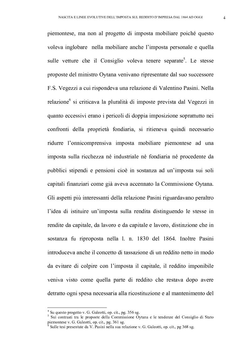 Anteprima della tesi: Nascita e linee evolutive dell'imposta sul reddito d'impresa dal 1864 ad oggi, Pagina 4