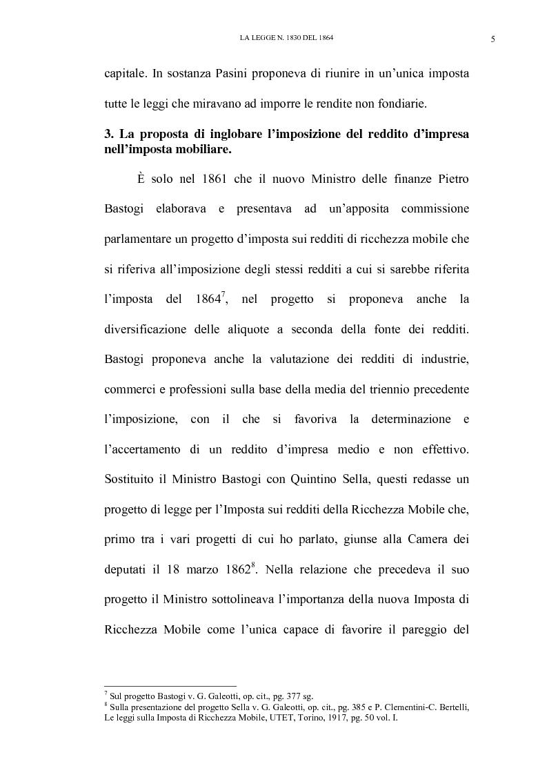 Anteprima della tesi: Nascita e linee evolutive dell'imposta sul reddito d'impresa dal 1864 ad oggi, Pagina 5