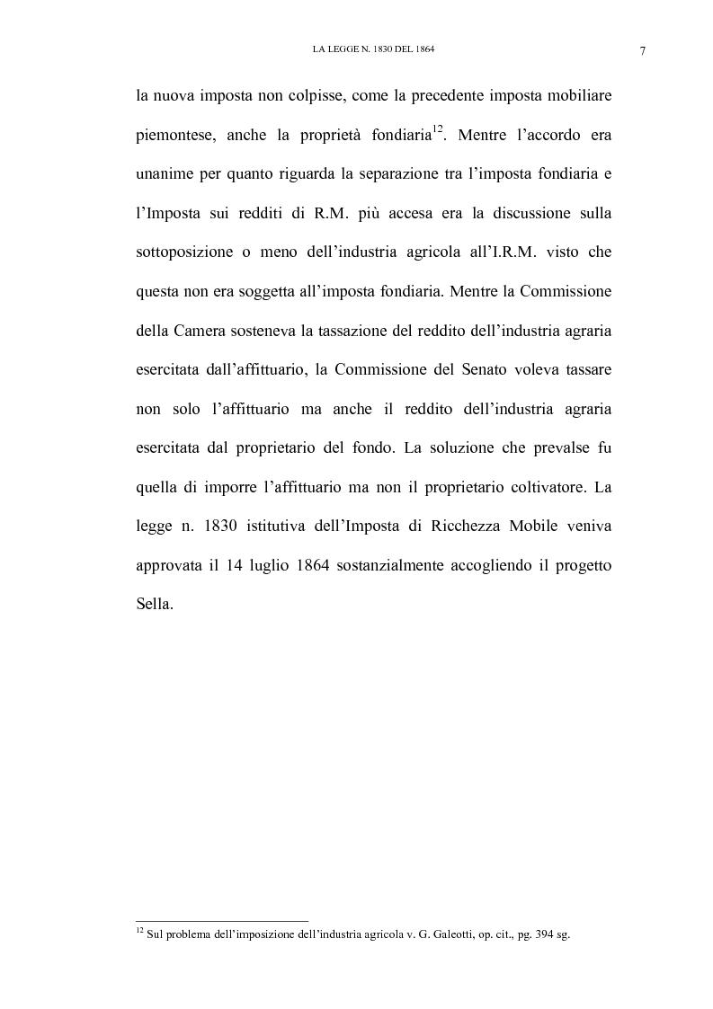 Anteprima della tesi: Nascita e linee evolutive dell'imposta sul reddito d'impresa dal 1864 ad oggi, Pagina 7