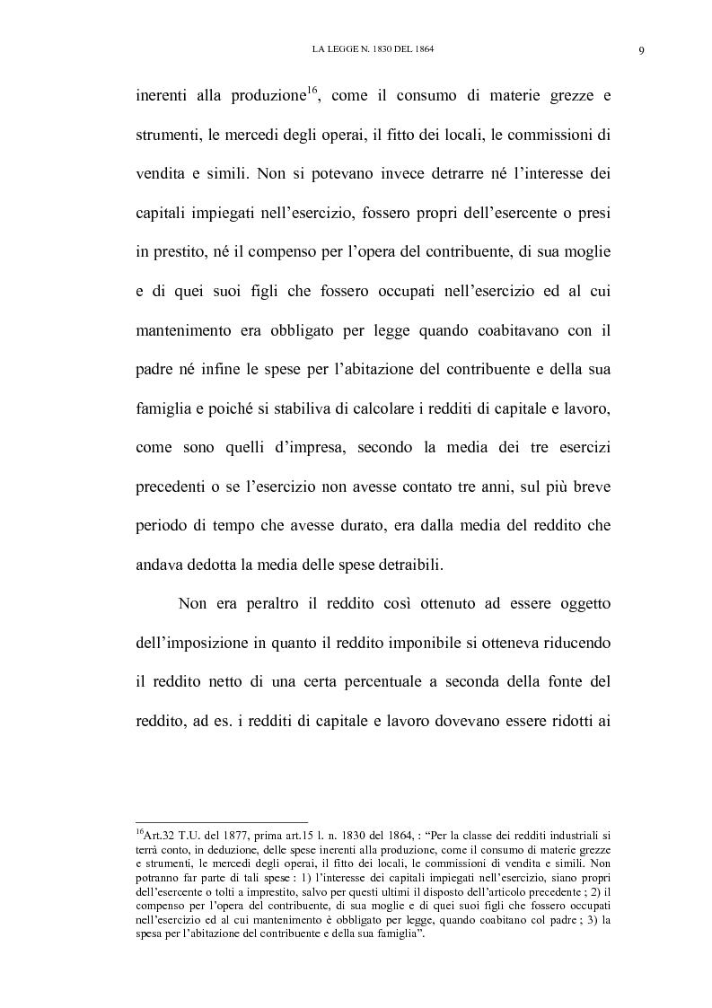 Anteprima della tesi: Nascita e linee evolutive dell'imposta sul reddito d'impresa dal 1864 ad oggi, Pagina 9