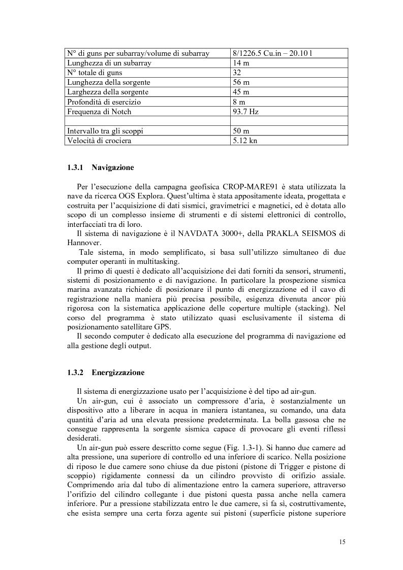 Anteprima della tesi: Rielaborazione ed interpretazione di dati sismici crostali del Margine Campano Tirrenico, Pagina 12