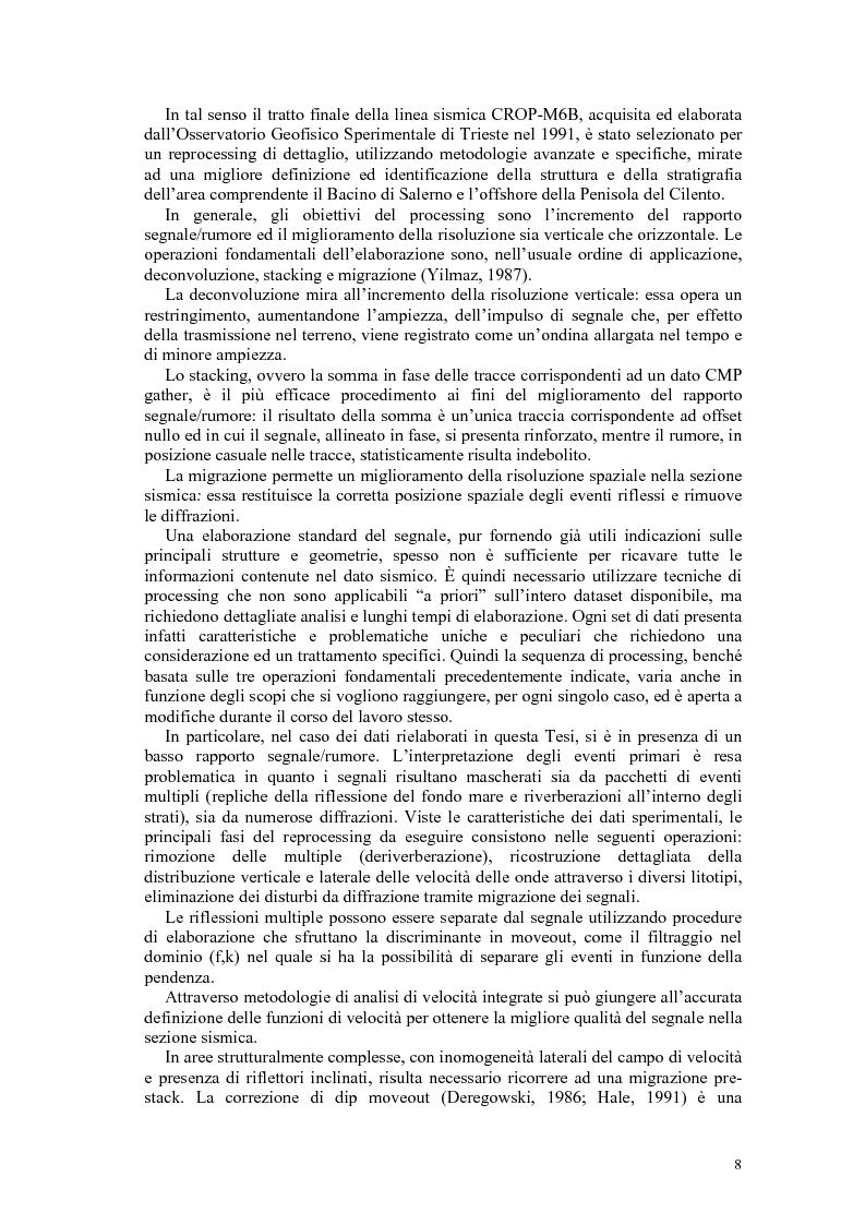 Anteprima della tesi: Rielaborazione ed interpretazione di dati sismici crostali del Margine Campano Tirrenico, Pagina 5