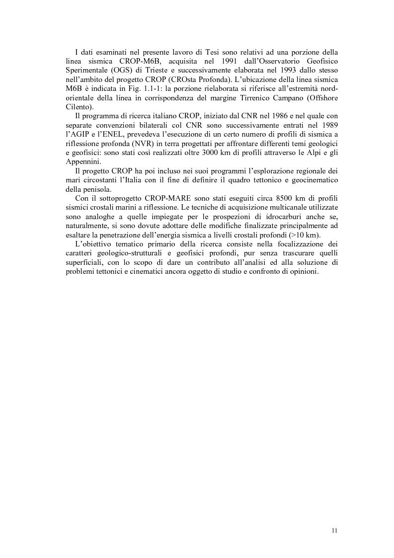 Anteprima della tesi: Rielaborazione ed interpretazione di dati sismici crostali del Margine Campano Tirrenico, Pagina 8