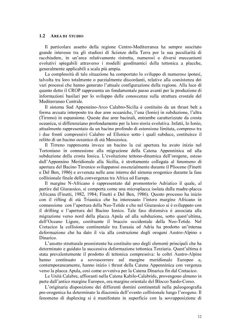 Anteprima della tesi: Rielaborazione ed interpretazione di dati sismici crostali del Margine Campano Tirrenico, Pagina 9