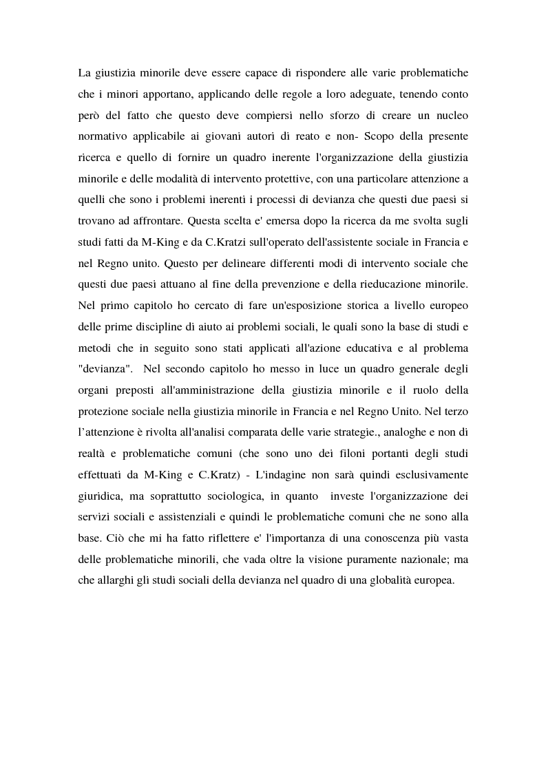 Anteprima della tesi: L'operatore sociale nella giustizia minorile, Pagina 3