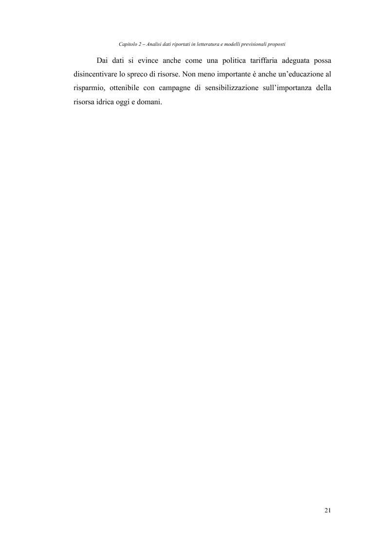 Anteprima della tesi: Analisi dei fabbisogni idropotabili con particolare riferimento ai consumi domestici, Pagina 15