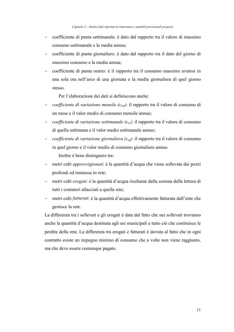 Anteprima della tesi: Analisi dei fabbisogni idropotabili con particolare riferimento ai consumi domestici, Pagina 5