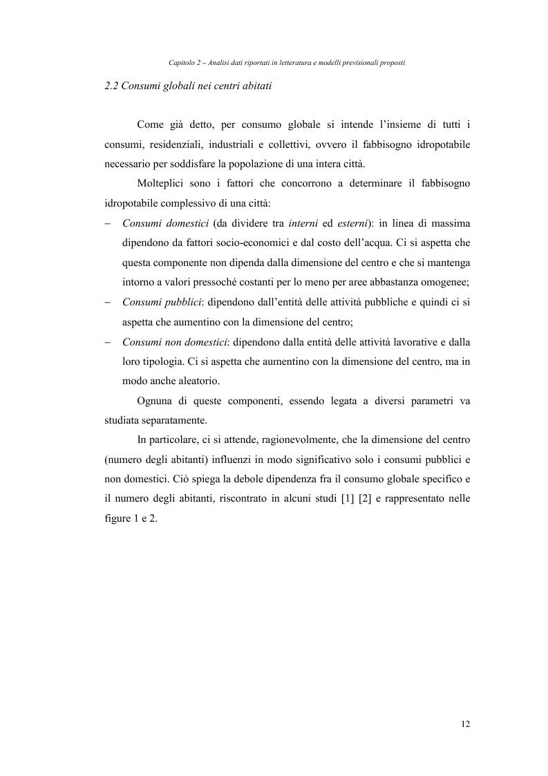 Anteprima della tesi: Analisi dei fabbisogni idropotabili con particolare riferimento ai consumi domestici, Pagina 6
