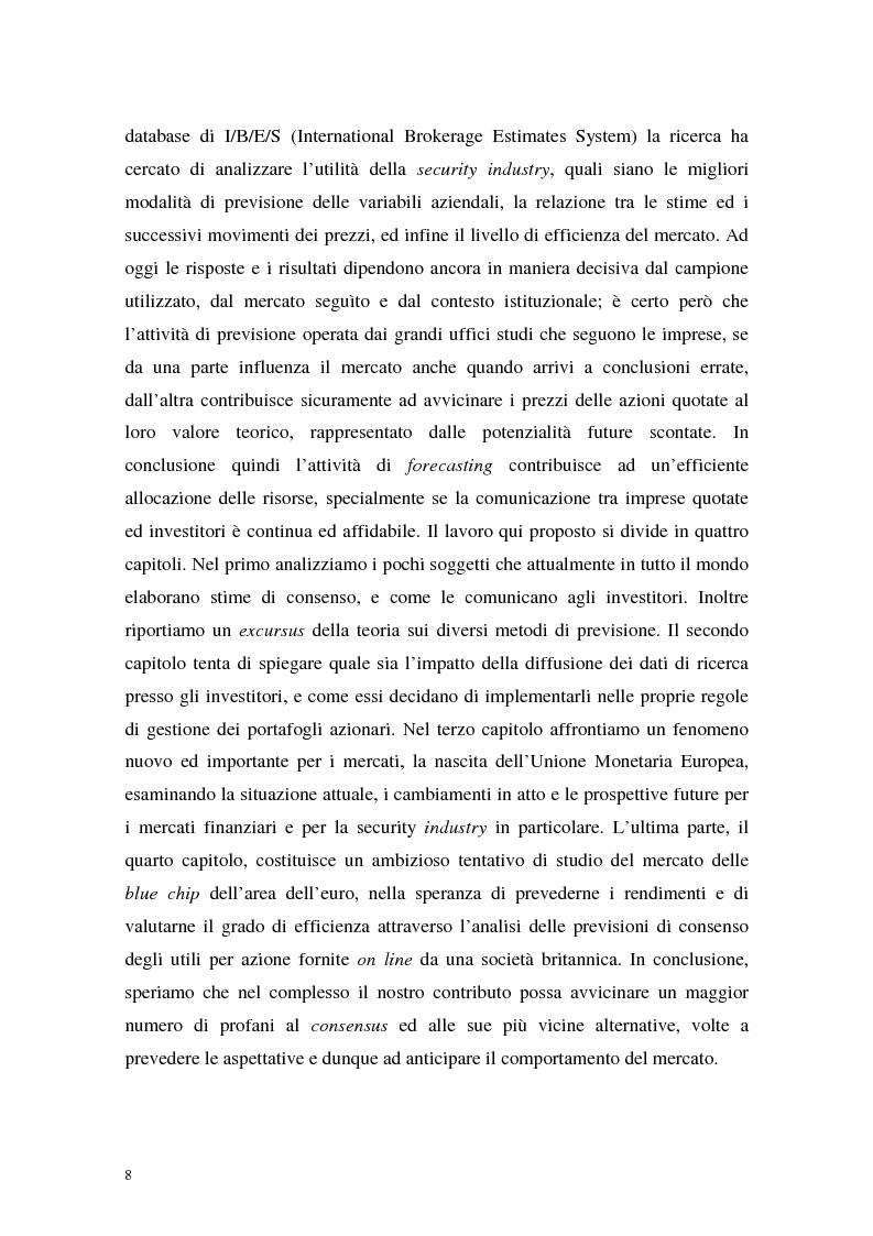 Anteprima della tesi: Utili di consenso: metodologie di formazione e criteri di utilizzo, Pagina 3