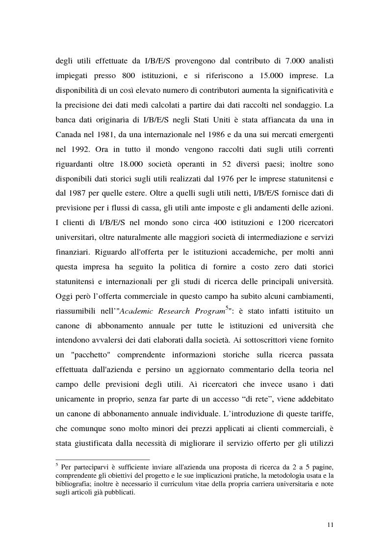Anteprima della tesi: Utili di consenso: metodologie di formazione e criteri di utilizzo, Pagina 6