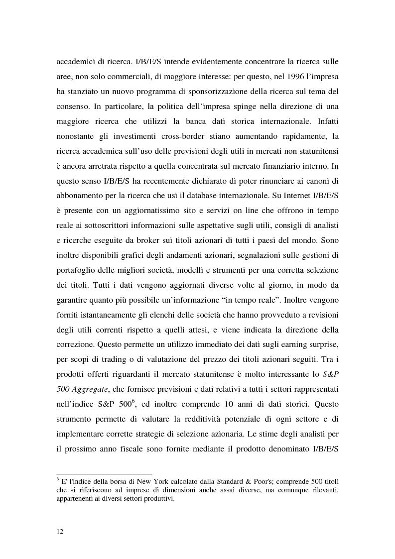 Anteprima della tesi: Utili di consenso: metodologie di formazione e criteri di utilizzo, Pagina 7