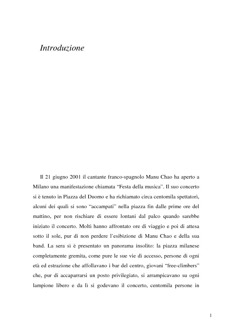 Anteprima della tesi: Suoni senza frontiere. Musica etnica e globalizzazione, Pagina 1
