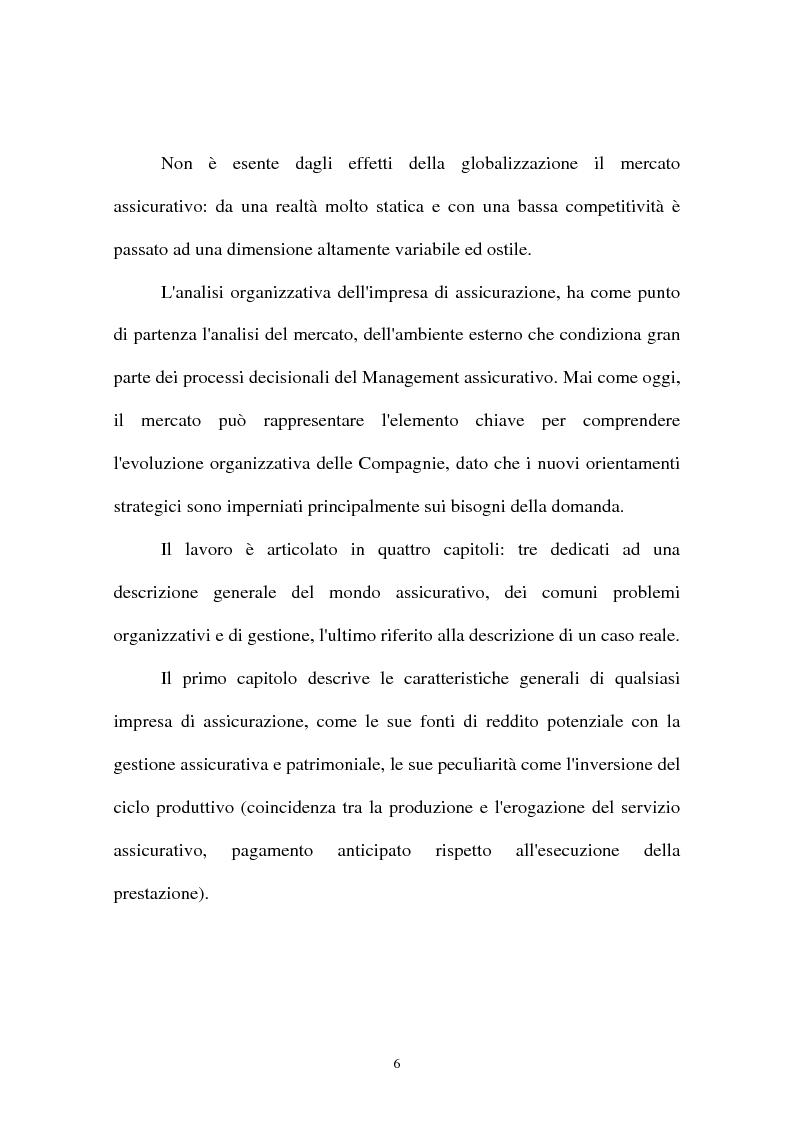 Anteprima della tesi: I sistemi organizzativi delle imprese di assicurazione. L'Aurora Assicurazioni S.p.A., Pagina 2