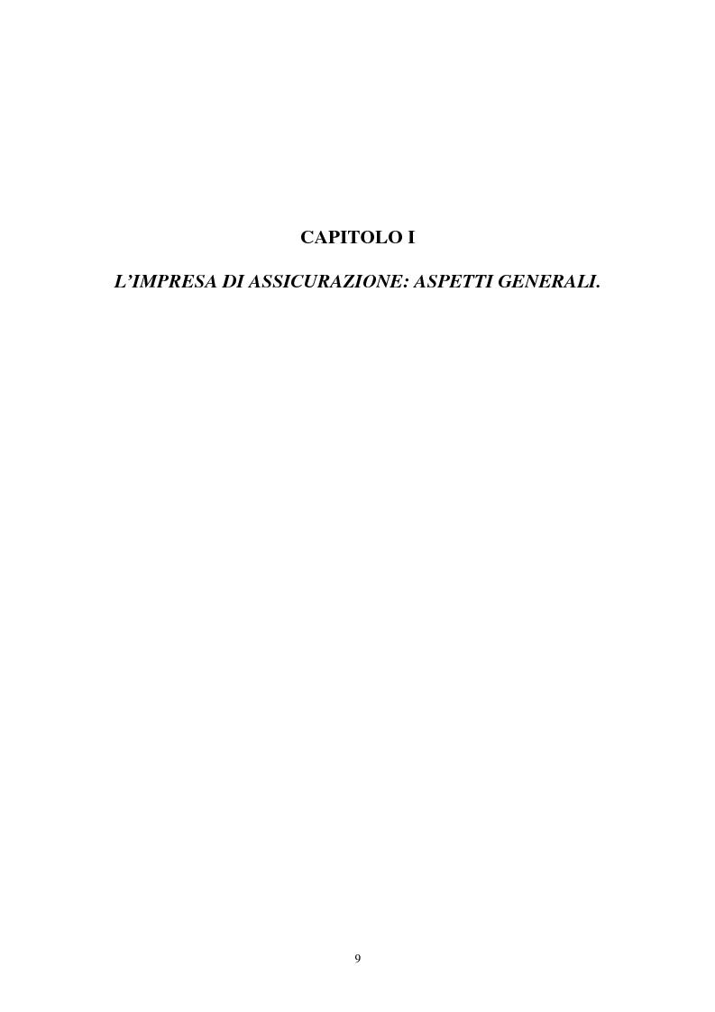 Anteprima della tesi: I sistemi organizzativi delle imprese di assicurazione. L'Aurora Assicurazioni S.p.A., Pagina 5