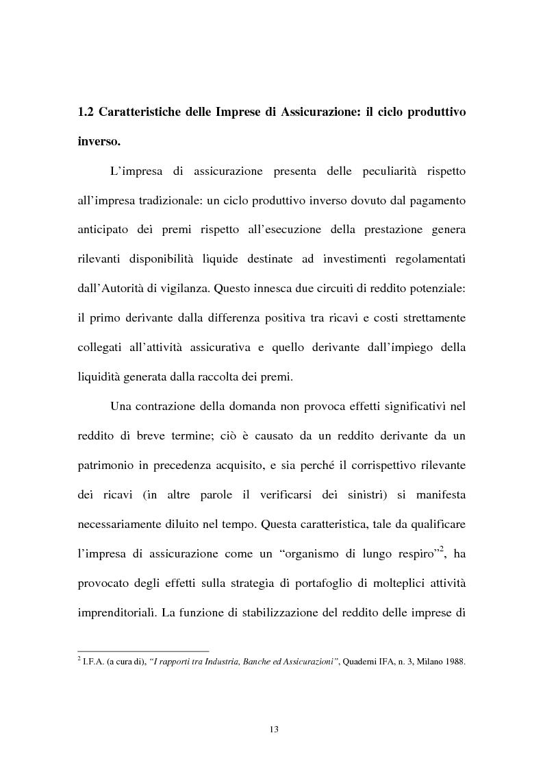 Anteprima della tesi: I sistemi organizzativi delle imprese di assicurazione. L'Aurora Assicurazioni S.p.A., Pagina 9