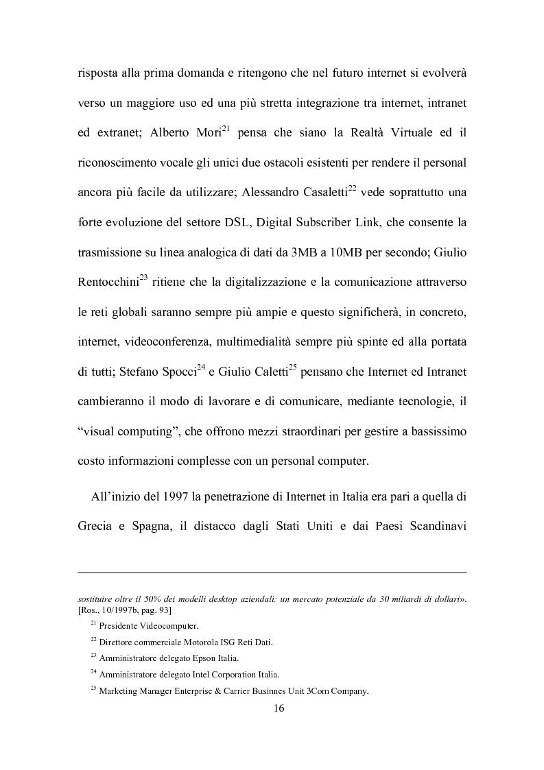Anteprima della tesi: Computer, insegnamento, scuola: esperienze e prospettive, Pagina 13