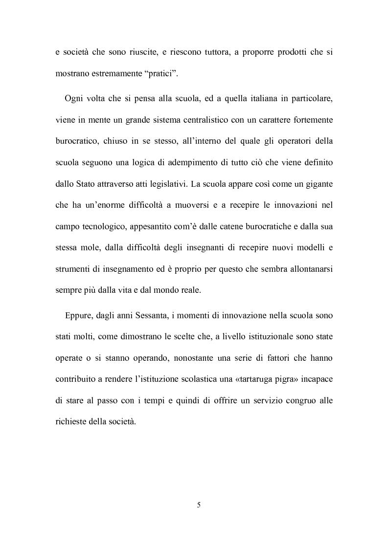 Anteprima della tesi: Computer, insegnamento, scuola: esperienze e prospettive, Pagina 2