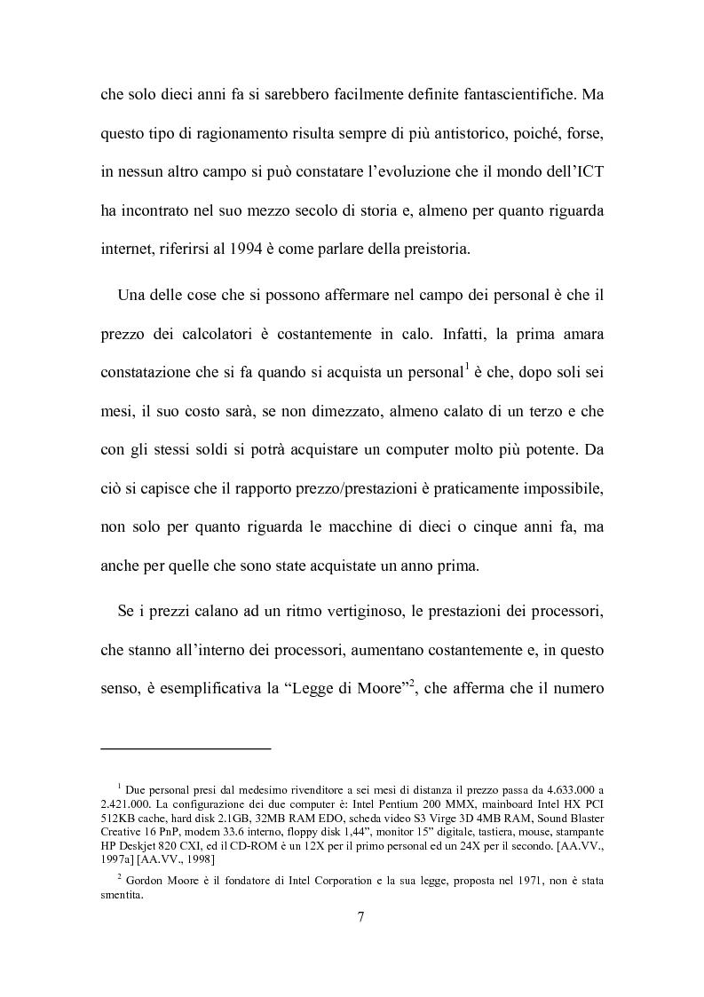 Anteprima della tesi: Computer, insegnamento, scuola: esperienze e prospettive, Pagina 4