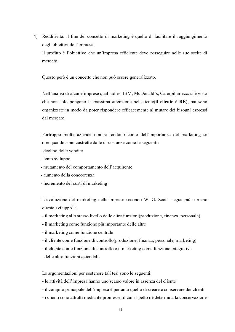 Anteprima della tesi: Il marketing mix e le sue applicazioni in aziende che operano nel settore moda, Pagina 14