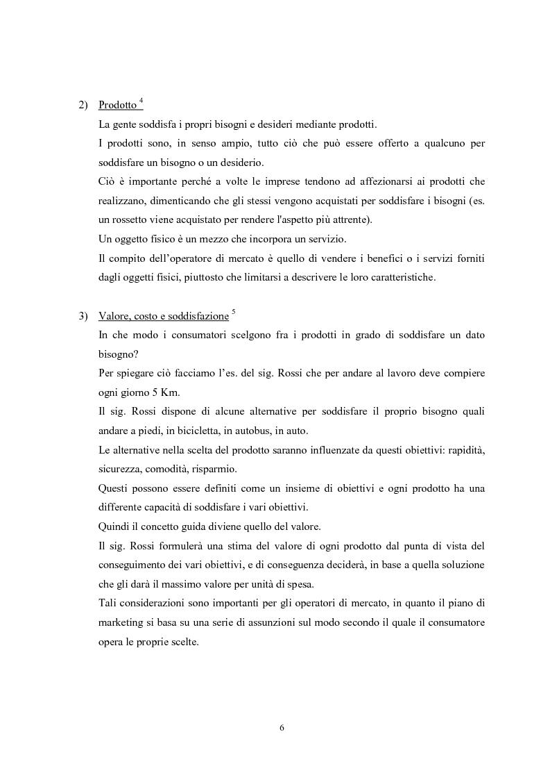 Anteprima della tesi: Il marketing mix e le sue applicazioni in aziende che operano nel settore moda, Pagina 6
