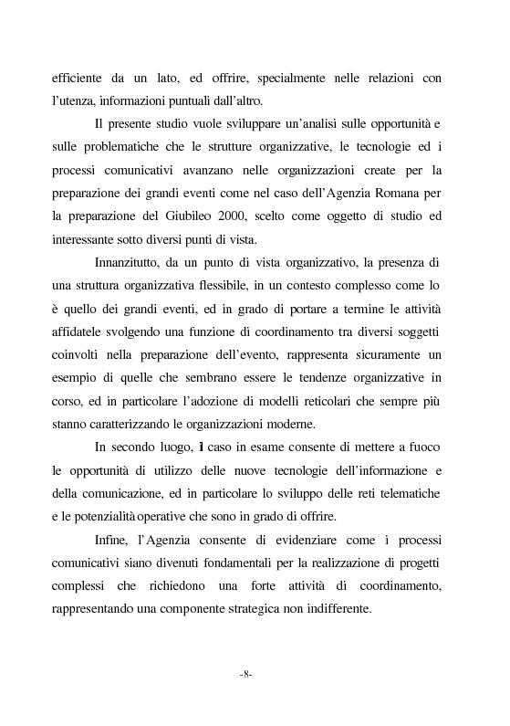 Anteprima della tesi: Le nuove vie del Giubileo. Il ruolo delle reti nell'agenzia romana, Pagina 4