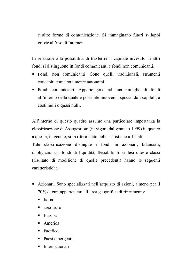 Anteprima della tesi: I fondi comuni di investimento: elementi di valutazione della performance, Pagina 14