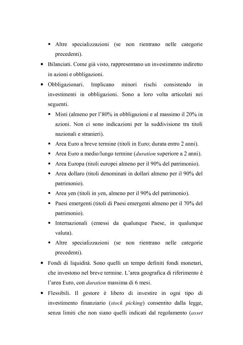 Anteprima della tesi: I fondi comuni di investimento: elementi di valutazione della performance, Pagina 15