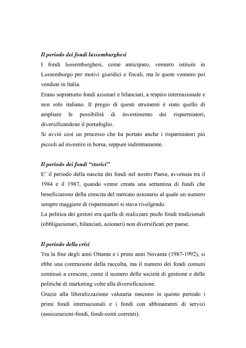 Anteprima della tesi: I fondi comuni di investimento: elementi di valutazione della performance, Pagina 8