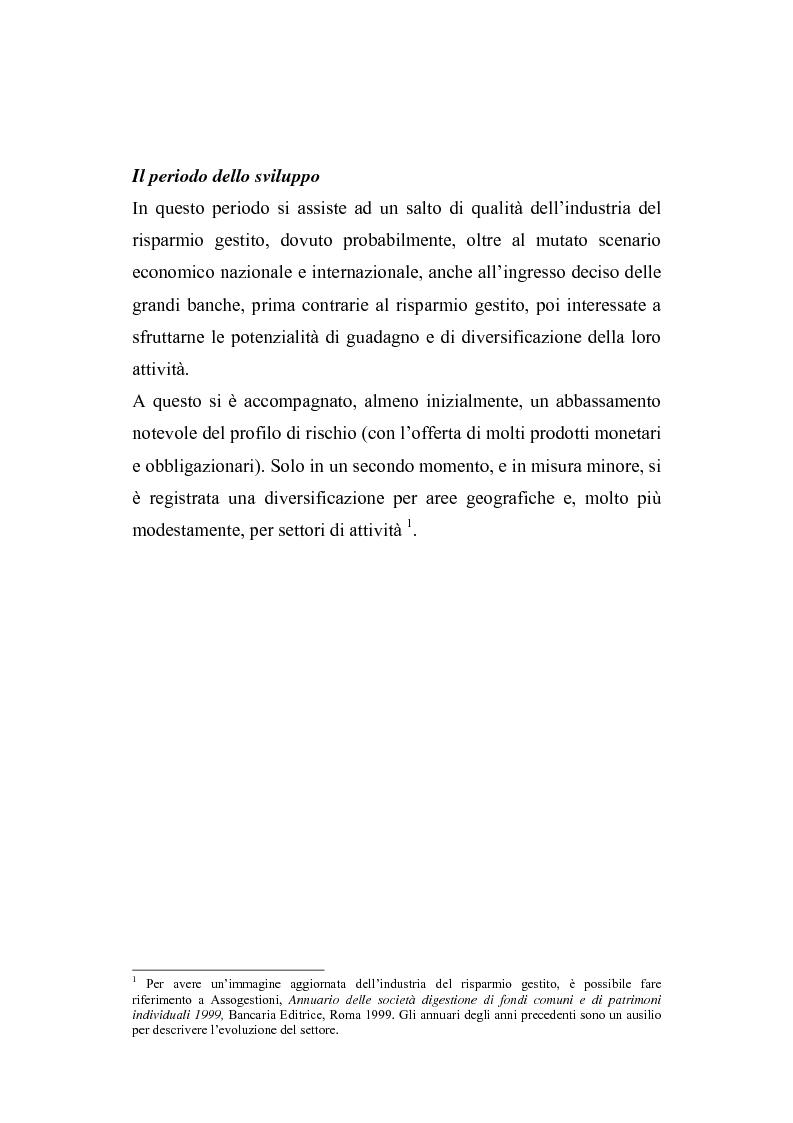 Anteprima della tesi: I fondi comuni di investimento: elementi di valutazione della performance, Pagina 9