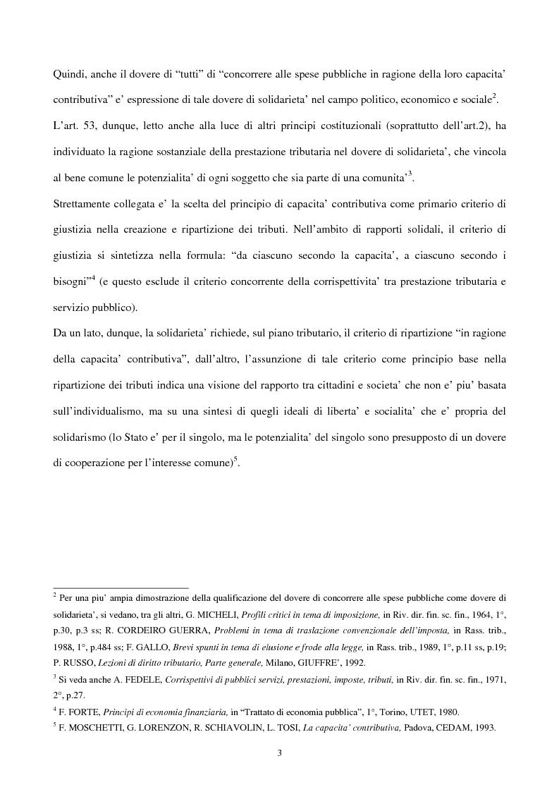 Anteprima della tesi: Il principio di capacità contributiva ed il reddito d'impresa, Pagina 3