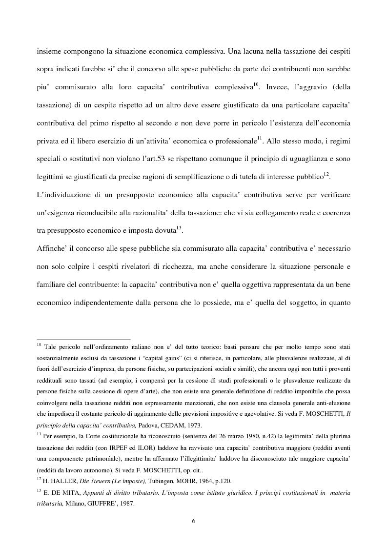 Anteprima della tesi: Il principio di capacità contributiva ed il reddito d'impresa, Pagina 6