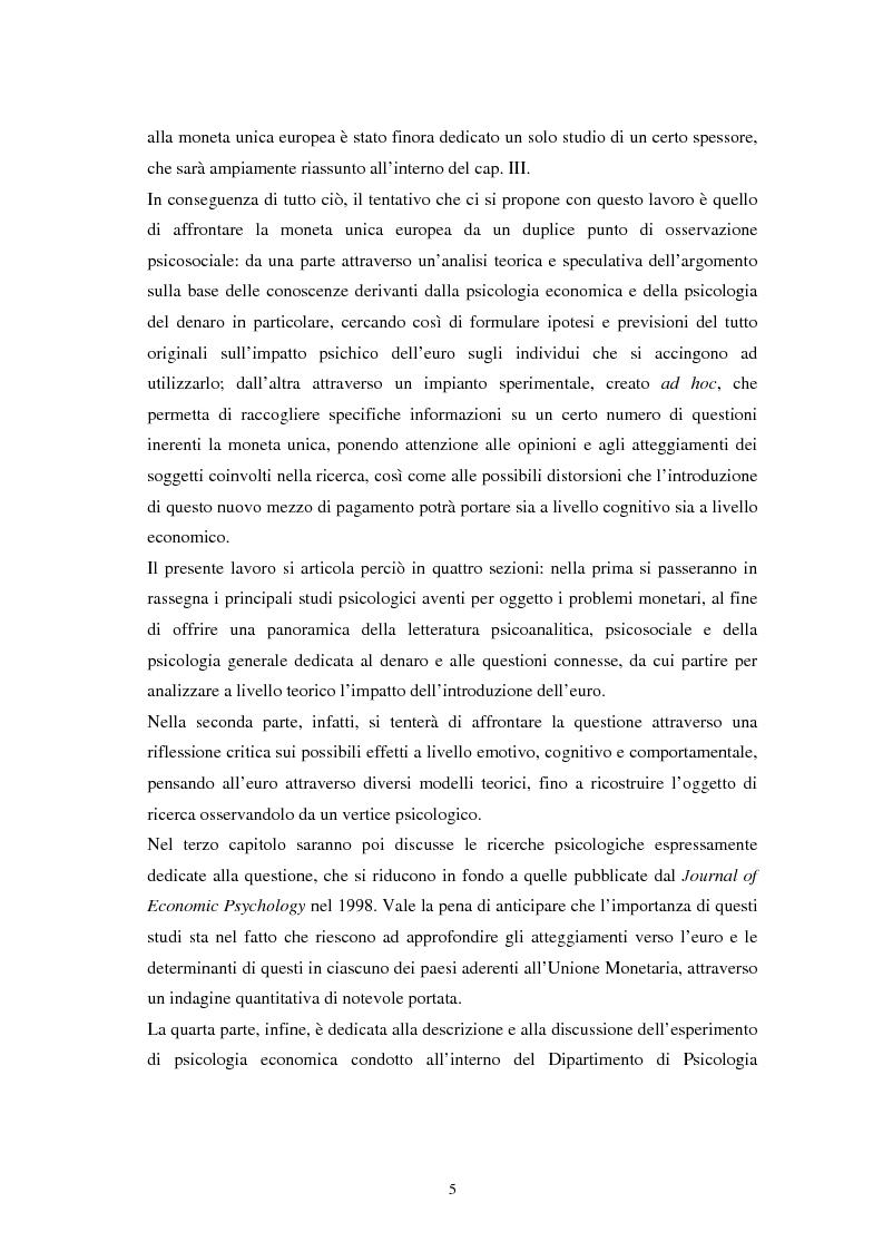 Anteprima della tesi: L'euro: aspetti psicosociali dell'introduzione della moneta unica europea, Pagina 2