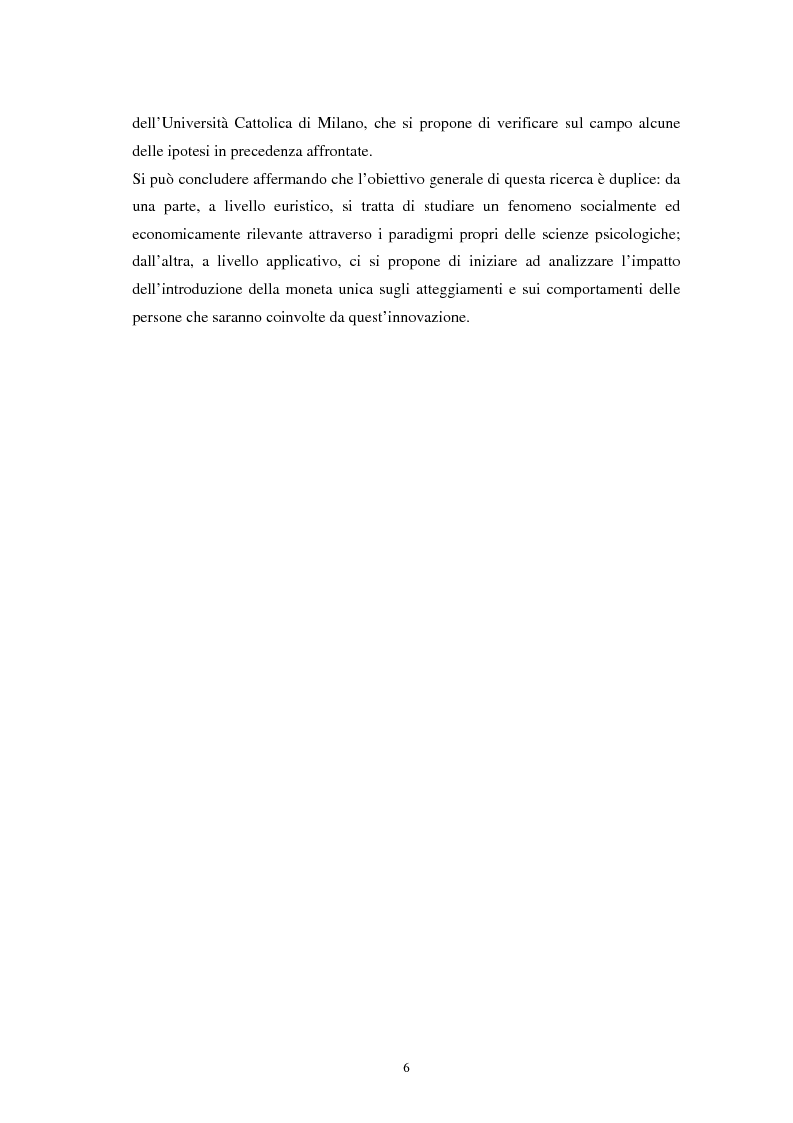 Anteprima della tesi: L'euro: aspetti psicosociali dell'introduzione della moneta unica europea, Pagina 3
