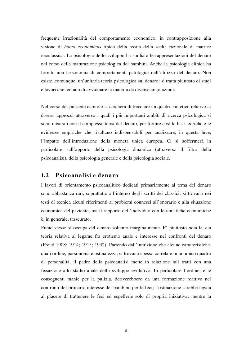 Anteprima della tesi: L'euro: aspetti psicosociali dell'introduzione della moneta unica europea, Pagina 5