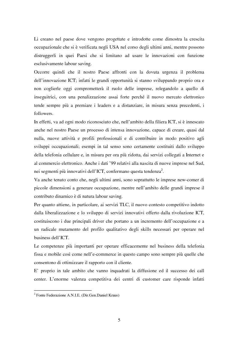Anteprima della tesi: Strutture organizzative e di gestione del personale nei call center, Pagina 2