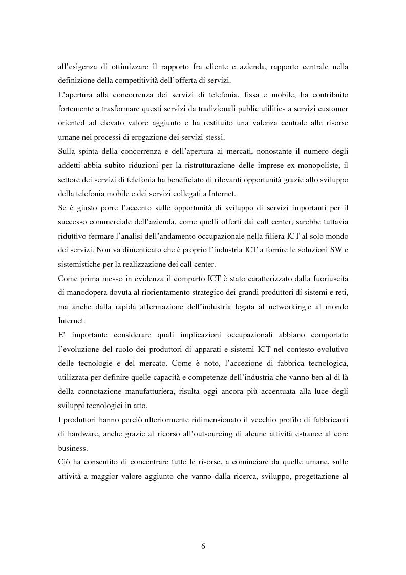 Anteprima della tesi: Strutture organizzative e di gestione del personale nei call center, Pagina 3