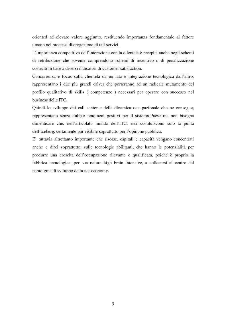 Anteprima della tesi: Strutture organizzative e di gestione del personale nei call center, Pagina 6