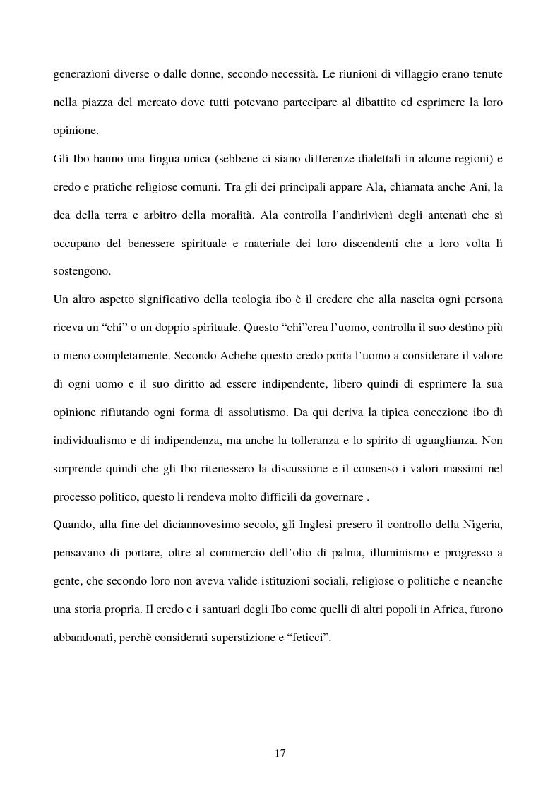 Anteprima della tesi: Tematiche e linguaggio in Anthills of the Savannah di Chinua Achebe, Pagina 12