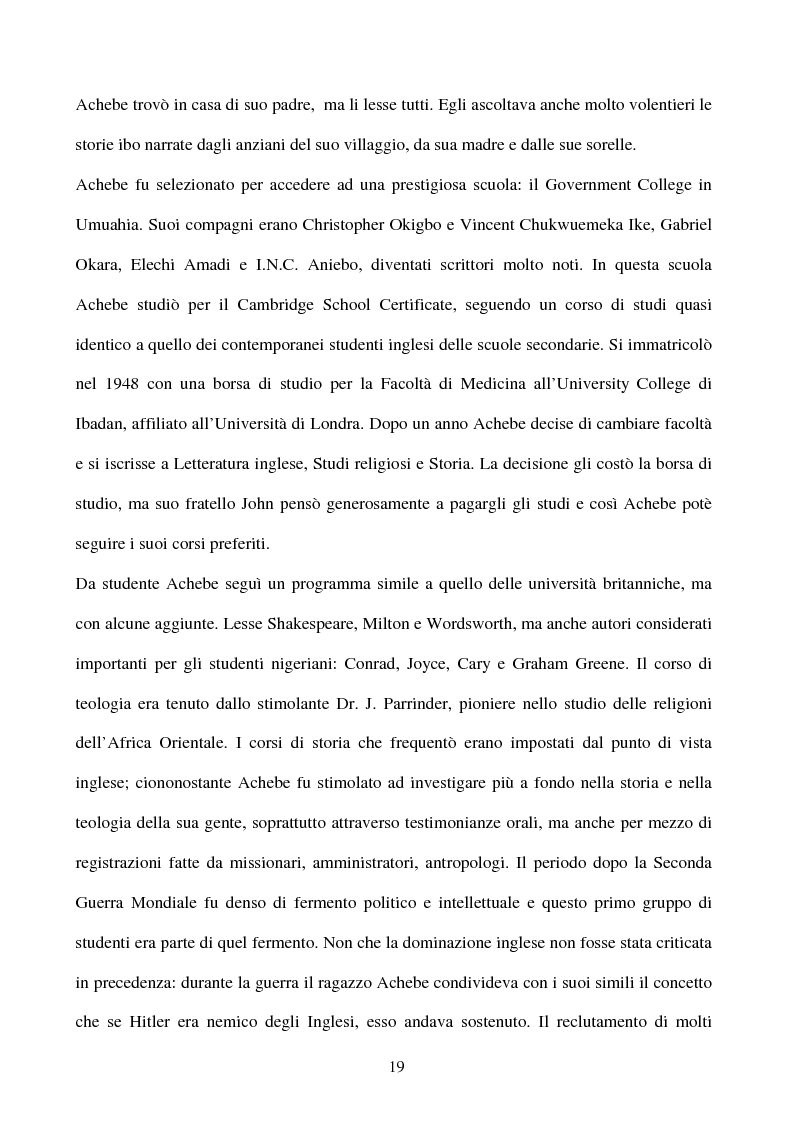 Anteprima della tesi: Tematiche e linguaggio in Anthills of the Savannah di Chinua Achebe, Pagina 14