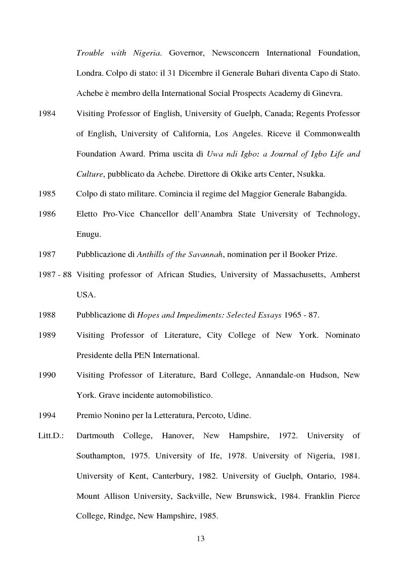 Anteprima della tesi: Tematiche e linguaggio in Anthills of the Savannah di Chinua Achebe, Pagina 8