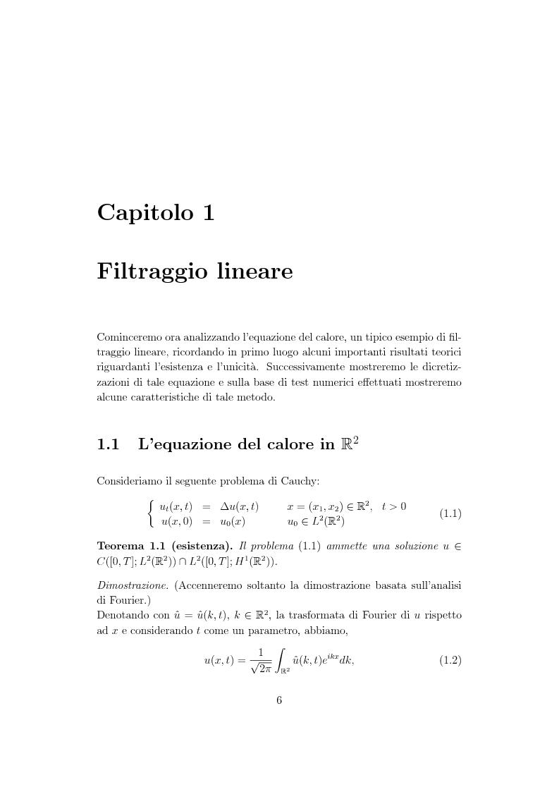 Anteprima della tesi: Metodi di controllo ottimo attivo nella elaborazione adattativa di immagine, Pagina 4